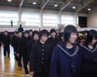式場を退場する卒業生諸君